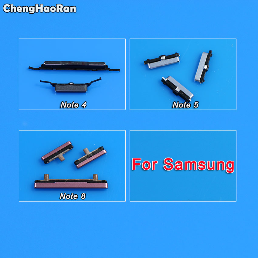 ChengHaoRan For <font><b>Samsung</b></font> <font><b>Galaxy</b></font> <font><b>Note</b></font> 4 5 <font><b>8</b></font> N910 N950 N950F <font><b>N950N</b></font> Phone Flex Cable New Volume Power Button On Off Side Key image