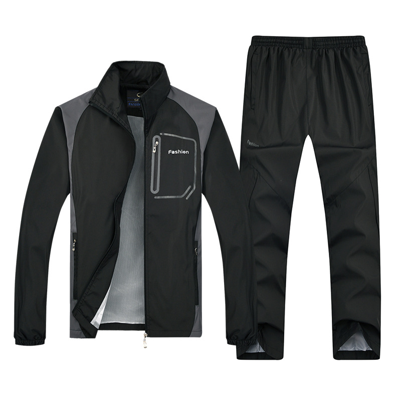 Men Casual Tracksuit Sets 2019 New Sportswear Male Sporting Suit Running Fitness Men Two Pieces Sets Jackets+Pants Jogger Gym