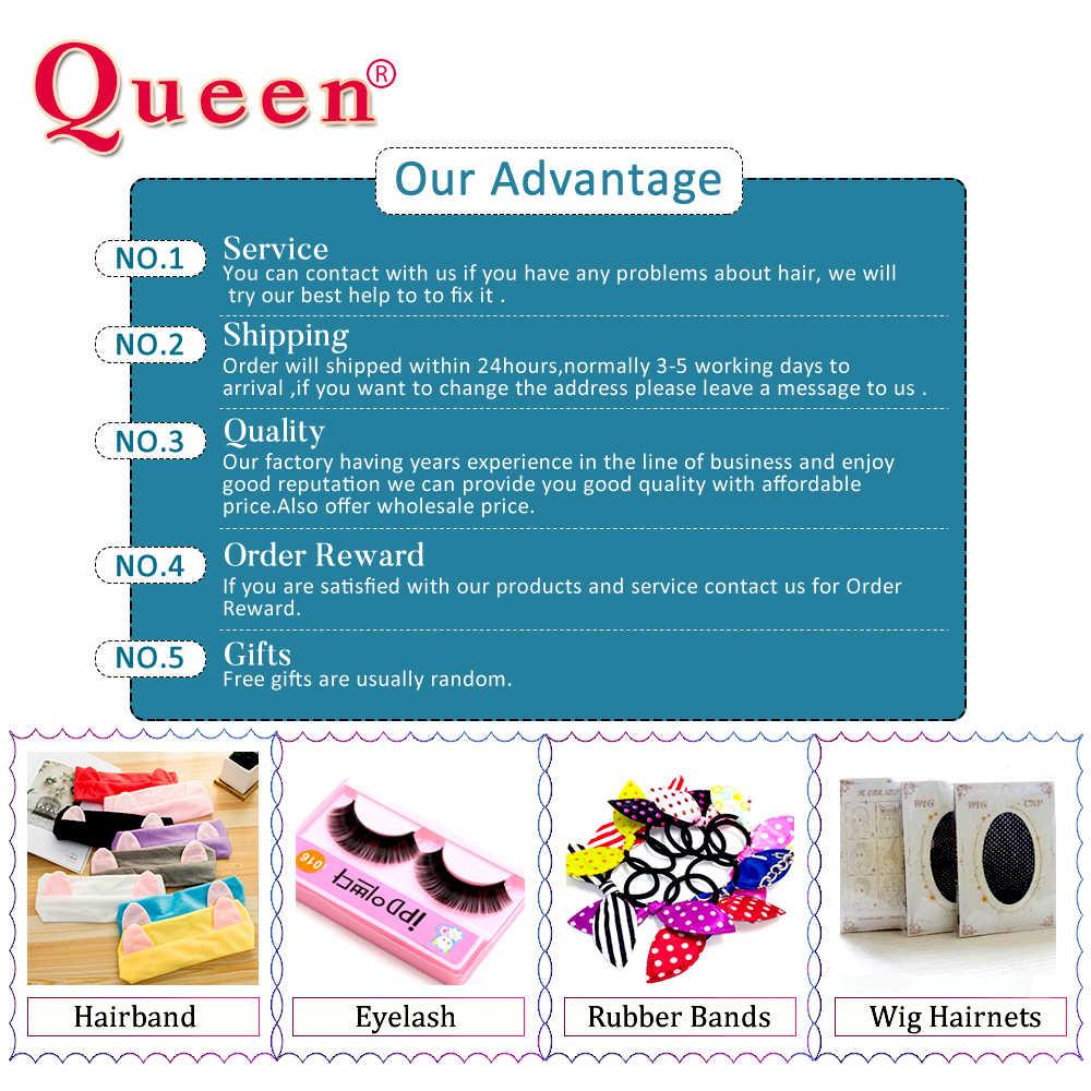 Queen Hair Prodotti per capelli Lisci Brasiliano Fasci di Capelli 1/3/4 PCS 100% di Remy Dei Capelli Umani Del Tessuto Fasci di Estensioni Dei Capelli colore naturale