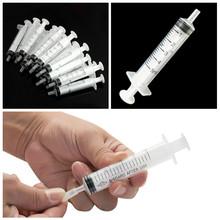 5 sztuk 5ML plastikowa strzykawka pojemność strzykawka przezroczysty sterylny pomiar wtrysku składników odżywczych hydroponika strzykawka tanie tanio NONE CN (pochodzenie) Plastic About 8 8 cm 5pcs