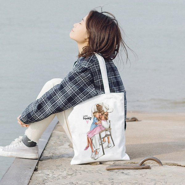 Canvas Tote Bag For Women 2019 Female Handbags Eco Reusable Cloth Shopping Bag Student Book Bags Ladies Casual Shopper Bag