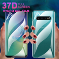 Передняя + задняя защитная пленка 37D для Samsung Galaxy S10 E 9 Plus, Гидрогелевая мягкая пленка для A 10 20 30 40 50 60 70 80 90 A51, чехол