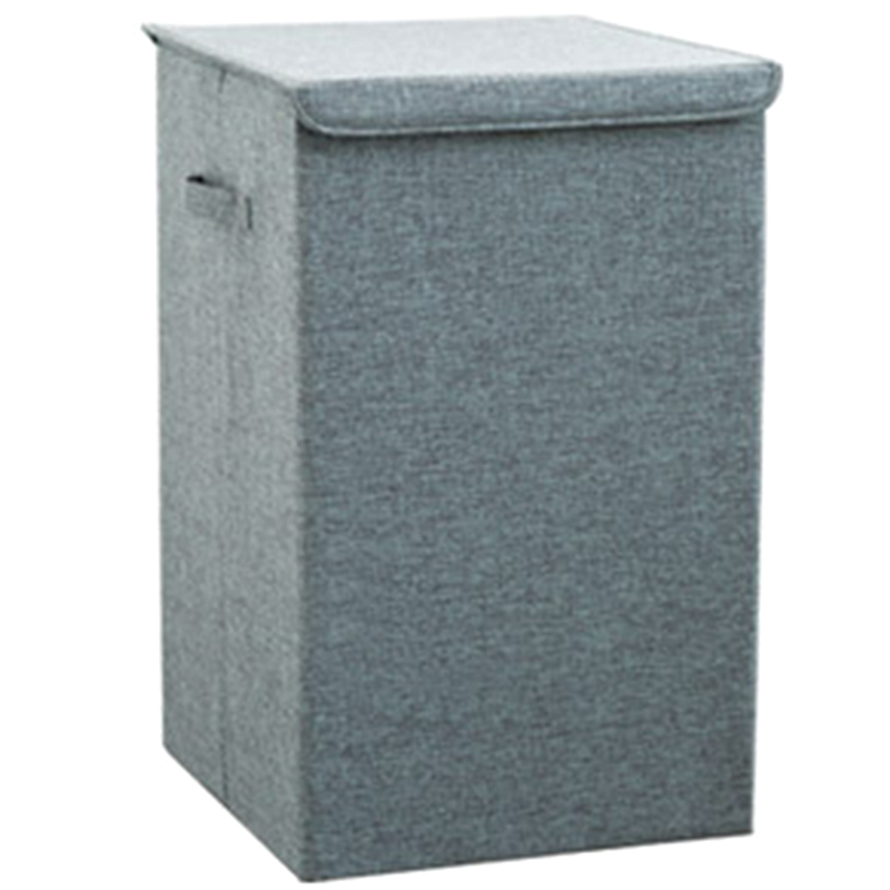Large Laundry Hamper Bucket Foldable Dirty Clothes Storage Basket Bin Collapsible Bag Container with Lid Child Toy Finishing Box|  - title=