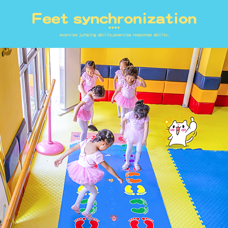 Top SaleJumping Carpet Toys Game-Pad Team Outdoor Early-Childhood Kid's Kindergarten Lattice