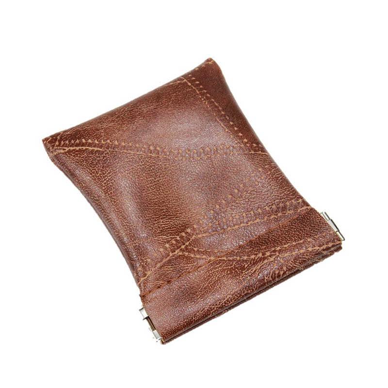 بو الجلود محفظة نسائية للعملات المعدنية النساء الرجال محفظة صغيرة صغيرة حقيبة المال تغيير مفتاح صغير الأعمال حامل بطاقة الائتمان لفتاة الاطفال