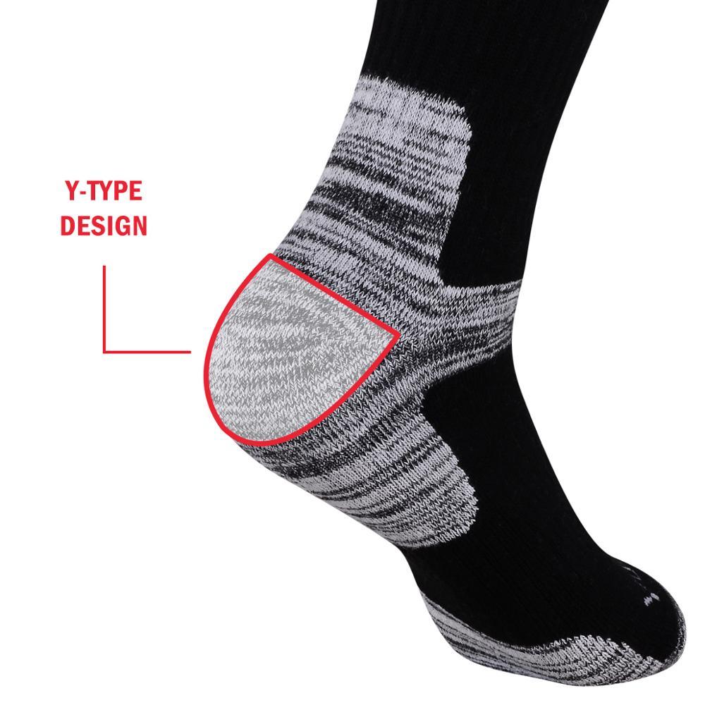 YUEDGE Men's Wicking Cushion Cotton Socks Sports Hiking Socks (5 Pair/Packs)