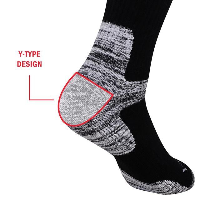 YUEDGE Men's Wicking Cushion Cotton Socks 6