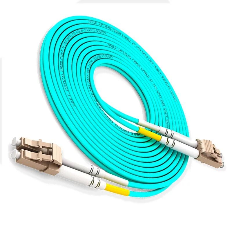 10pcs LC/UPC-LC/UPC OM3 Multimode 10G Fiber Patch Cord Duplex MM 50/125um,PVC Jacket,3.0mm.Length Or Connector Can Be Customized