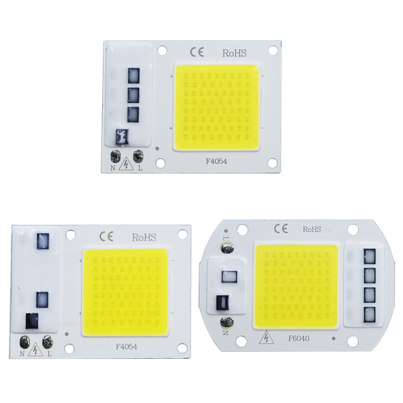 LED COB Lamp Chip 10W 20W 30W 50W AC 220V 240V IP65 Smart IC No Need Driver DIY Flood Light Led Bulb Spotlight Outdoor Chip Lamp