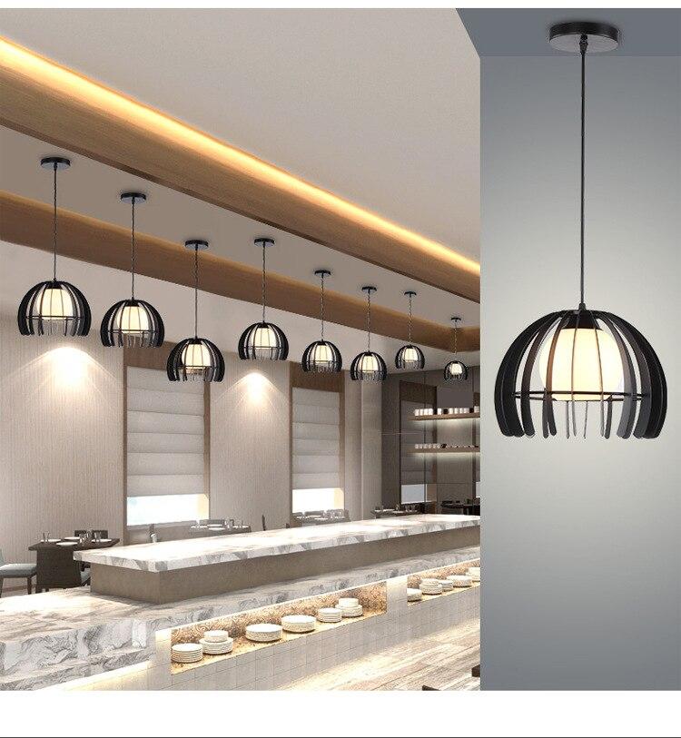 ZISIZ Современный Железный светодиодный светильник, современный подвесной светильник для ресторана, кафе, бара, гостиной, спальни, чердачные лампы, украшающие - Цвет корпуса: Черный