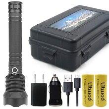 Litwod Z92 1282 18650 лм высокомощный тактический светодиодный фонарик, фонарик CREE XHP70.2 26650, фонарь с перезаряжаемой батареей