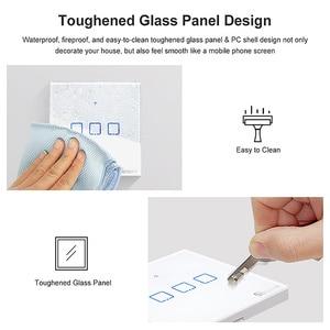 Image 4 - Sonoff T2 Eu/Uk 1/2/3 Gang Wifi Muur Panel Licht Schakelaar Socket 433 Mhz Rf/Touch/Ewelink Draadloze Afstandsbediening Google Home Alexa
