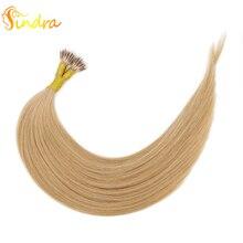 Sindra remy волосы предварительно скрепленные микро-звено человеческие волосы для наращивания#27 цвет 14-24 дюйма 1 г/шт. микро бусины настоящие Remy человеческие волосы