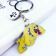 English Bulldog Pendant Key Chains Metal Alloy Pet Dog Bag Charm Male Female Car Keychain Keyring(China)