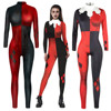 Suicide Squad Harley Quinn Superhero Jumpsuit Catsuit Sexy Women Cosplay Costumes Halloween