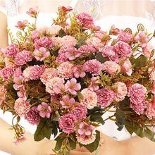 Artificial Lila DIY fiesta decoración Vintage flores de seda 3,5 CM boda flores falsas Festival suministros decoración del hogar ramo 2020