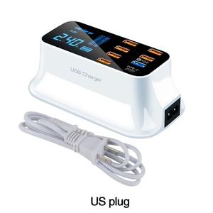 Image 5 - LCD תצוגה דיגיטלית Chargeur 8 יציאות USB עבור Xiaomi Huawei סמסונג iPhone אנדרואיד Adaptateur טלפון נייד Chargeur XEDAIN
