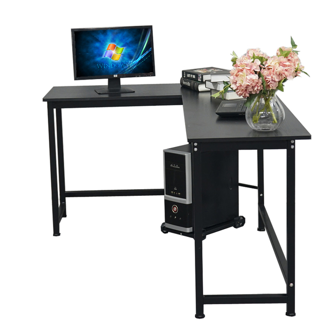 L-Shaped Desktop Computer Desk Study Table Office Table Easy to Assemble Can Be Used in home and office Black 5