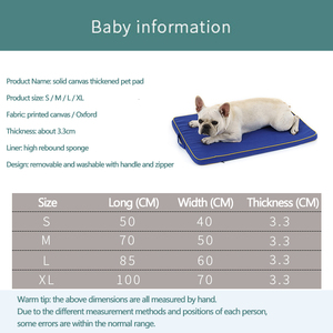 Image 4 - גדול כלב מיטת מחצלת זיכרון קצף לנשימה כלב מיטות אוקספורד תחתון אורטופדי מזרן מיטות עבור קטן בינוני גדול לחיות מחמד