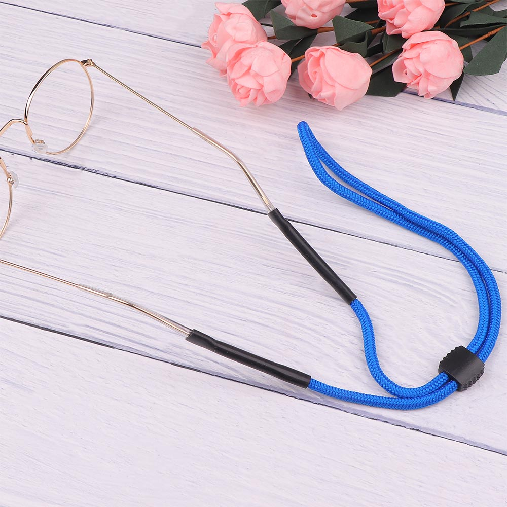 Blue Elastic Eyeglasses Cord Adjustable Glasses Lanyards Neck String Cord Retainer Strap Head Band Glasses Rope Sunglasses Cord
