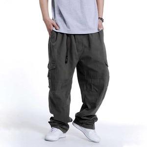 Брюки-карго в стиле хип-хоп, хлопковые Свободные мешковатые армейские брюки, широкие брюки, военные тактические брюки, повседневные уличные брюки для бега, большие размеры