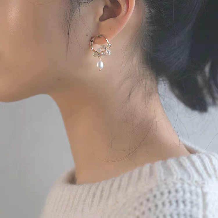 קוריאני עגילי גבירותיי פרל 925 כסף קוריאני סגנון נשים עגילי תוספות חמה בנות אופנה תכשיטי אוזן