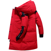 Teens New Men #8217 s Down Jacket Stylish Male Down Coat Winter Thick Warm Man Clothing Brand Men #8217 s Apparel Warm Parka 1910 cheap JUNGLE ZONE Thick (Winter) L1910 REGULAR Casual zipper Full Solid Denim NONE Button Pockets Zippers Appliques Polyester