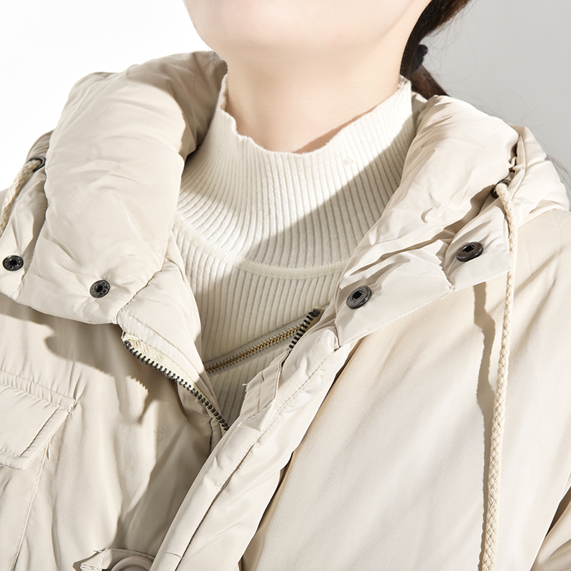 LANMREM 19 Winter New Fashion Women Loose Plus Casual Knee Thicker Hooded Down Jacket TC213 19