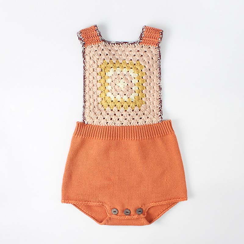 Knitted Baby Rompers Spring Autumn Clothes Newborn Baby Rompers Baby Girl Romper Cotton Infant Baby Boys Jumpsuit Overalls image