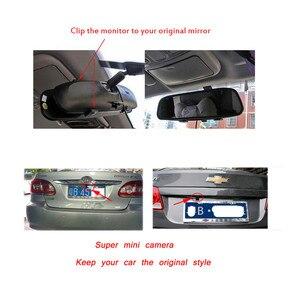 Image 5 - Podofo Auto Video HD Auto Monitor di Parcheggio, LED Night Vision Telecamera di Retromarcia CCD Auto Videocamera vista posteriore Con 4.3 pollici Retrovisore Auto Specchio