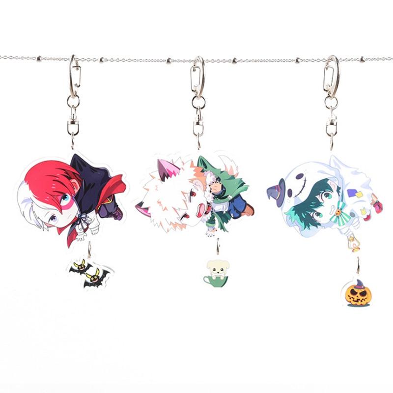 Japanese Anime My Hero Academia Midoriya Izuku Bakugou Katsuki Cosplay Acrylic Keychain Keyring Pendant Bag Phone Pendant Gifts
