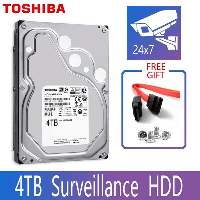"TOSHIBA 4TB Disco Rígido de Vigilância de Vídeo DVR NVR CCTV Monitor de HD HDD Interno SATA III 6 Gb/s 5400RPM 128MB 3.5 ""disco rígido"