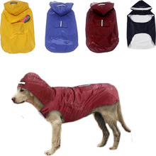 2019 Dog Raincoat Clothes For Small Large Dogs Pug Husky Labrador Solid Waterproof Rain Coat Jacket Double Layer Raincoats Vest