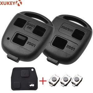 2 3 Button Pad Switch Remote Car Key Shell Case For Toyota RAV4 Yaris Prado Corolla Land Cruiser Previa Tarago Pixis Rush Celica(China)