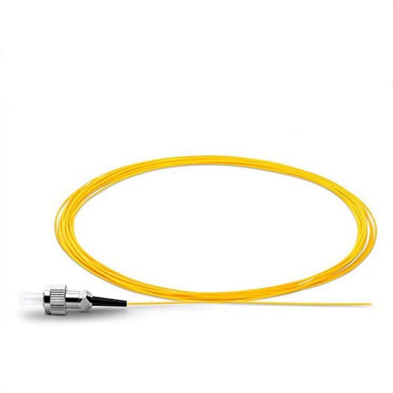 100PCS ST Fiber Optical Pigtail ST Connector 9/125um 0.9mm PVC Cable 1.5 Meters