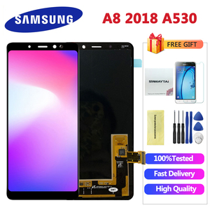5.6'' ORIGINAL Display LCD for SAMSUNG Galaxy A8 2018 LCD A530 LCD Touch Digitizer Assembly Replacement A8 2018 LCD