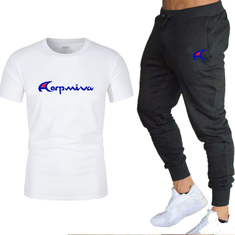 2020 men s new sportswear two-piece short-sleeved shirt   pants sweatshirt spring and summer sportswear new brand clothing men s