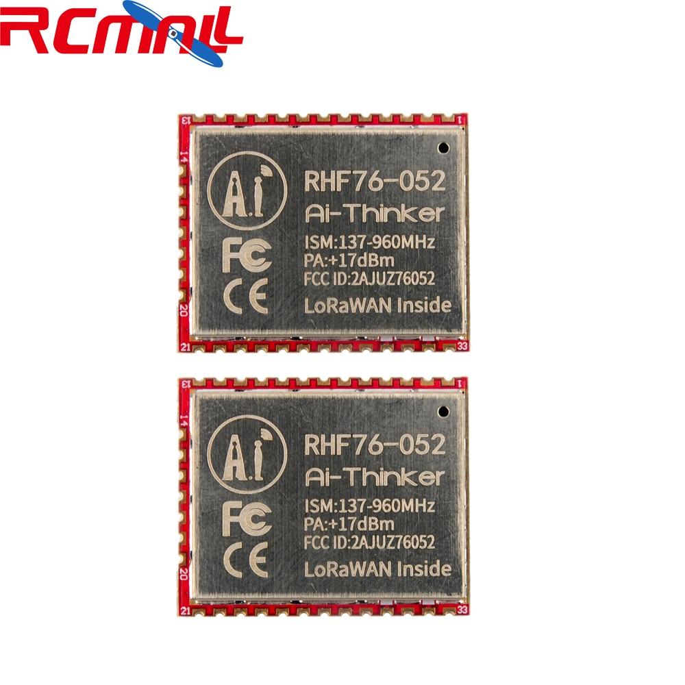 2Pcs/lot SX1276 RHF76-052 LoRa Module 433MHz 470MHz 868MHz 915MHz LoRaWAN Wifi Transceiver Module STM32L052C8T6 15Km FZ2853