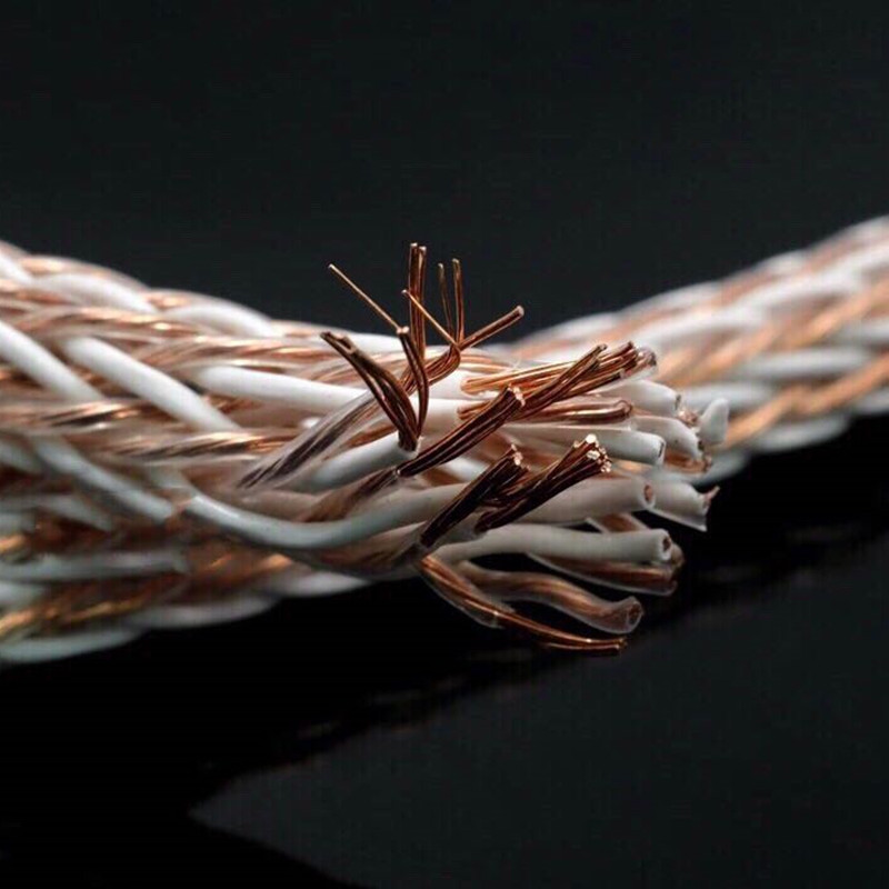 Couleur argent Kable 8TC OCC passionné câble haut-parleur amplificateur audio câble haut-parleur fil lâche