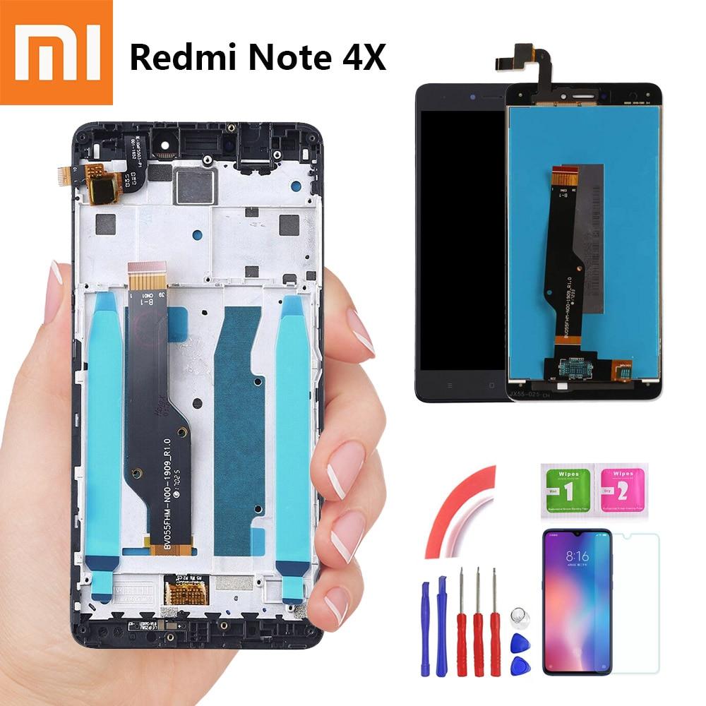 E-familie 5,5 ''Für Xiaomi Redmi Hinweis 4X LCD Display Touch Screen für Redmi Hinweis 4 Globale Snapdragon 625 ersatz Mit Rahmen