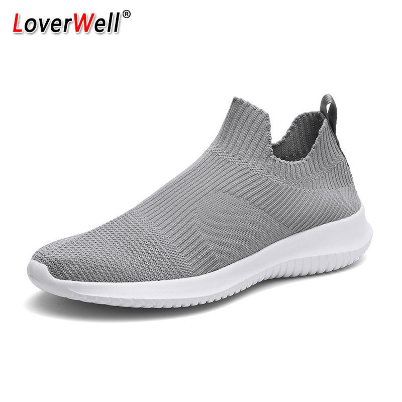 Sock Shoes For Men Lightweight Slip-on Flats Running Shoes Male Breathable Sport Shoes Comfortable Footwear Men Sneakers 39 46