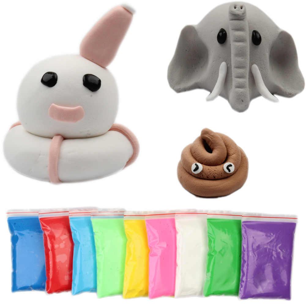 3d espuma macia argila lodo diy algodão macio slime bola kit ar seco argila lizun encantos luz plasticina sem estresse crianças brinquedos