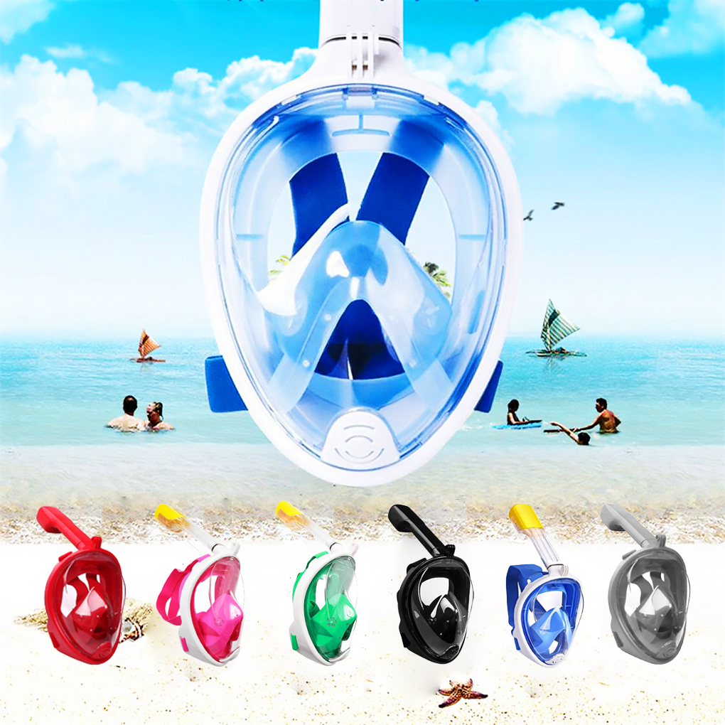 New Underwater Scuba Anti Fog Full Face Diving Mask 6 Colors Diving Mask Snorkeling Set Respiratory Masks Swimming Equipment(China)