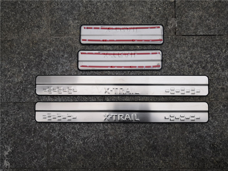 4PCS Car Door Sill Threshold Scuff Plates Cover For Nissan X-Trail T32 2014-2019