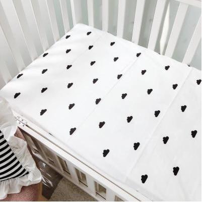 Хлопок, простыня для кроватки, мягкий матрас для детской кровати, защитный чехол, мультяшное постельное белье для новорожденных - Цвет: 12
