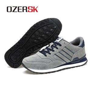 Image 5 - OZERSK מותג סתיו חורף גברים נוח פרה זמש נעלי אופנה סניקרס זכר באיכות גבוהה מעצב סיבתי נעלי גברים נעליים