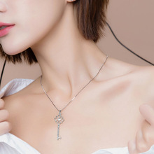 Fashion Pendant Necklace for Women Simple Key-shape Necklace  Temperament Concentric Knot Necklace Ladies Classic Jewelry цена 2017