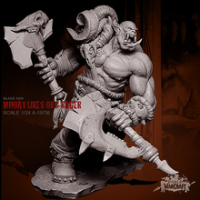 1/24 полимерные наборы Orc Tomahawk Hero полимерная ручная фигурка солдата (75 мм) Искусственная кожа