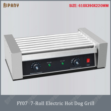FY05 electric hot dog grill 5/7/9/11 rollers sausage grill commercial hot dog maker hotdog roller machine hotdog cooker