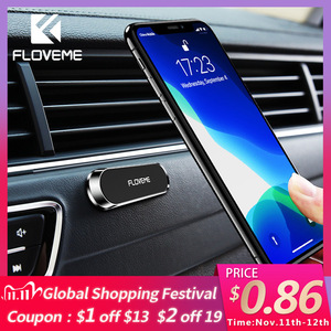 Image 1 - Soporte magnético de teléfono de coche FLOVEME para teléfono en coche soporte de teléfono de banda magnética fuerte para iPhone 11 Pro Samsung Universal Suporte